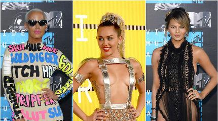 MTV vaizdo klipų apdovanojimų stilius: vienaragiai ir subliūškę balionai
