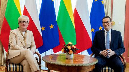 Varšuvoje susitikę Lietuvos ir Lenkijos premjerai aptarė strateginės partnerystės stiprinimą