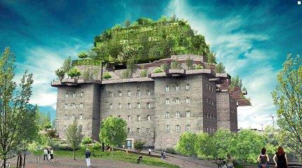 """Flaktürme IV"" bunkeris Hamburge virs viešbučiu"