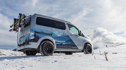 "Elektrinė egzotika: ""Nissan"" pristatė ""e-NV200 Winter Camper"" žieminę koncepciją"