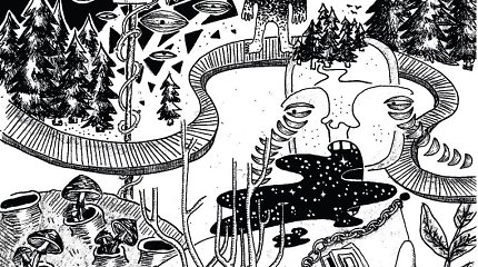 Ringailės Demšytės pieštos animacijos ir siuvinėti drabužiai