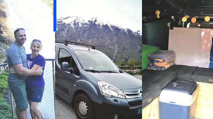 Lietuviai automobilį pavertė nameliu ant ratų: juo ketina išnaršyti visą Norvegiją