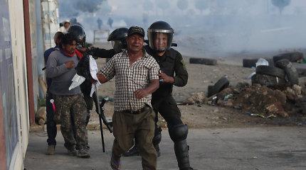 Bolivijoje per protestuotojų ir armijos susirėmimus žuvo žmogus