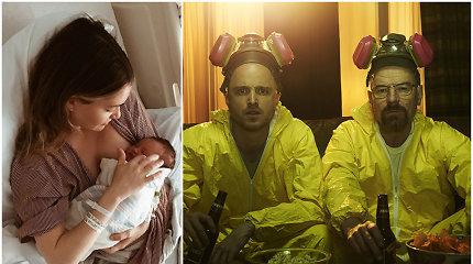 """Serialo """"Bręstantis blogis"""" žvaigždė Aaronas Paulas tapo tėvu: žmona pagimdė dukrą"""