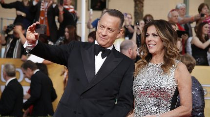 Aktorius Tomas Hanksas su žmona Rita Wilson