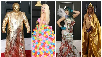 """Didžiausi """"Grammy"""" išsišokėliai: neįtikėtina, kokių keistenybių galima išvysti ant raudonojo kilimo"""