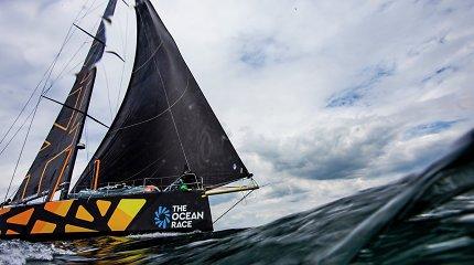 """""""Ambersail-2"""" komandos triumfas pirmajame """"The Ocean Race Europe"""" etape – iš arčiau"""