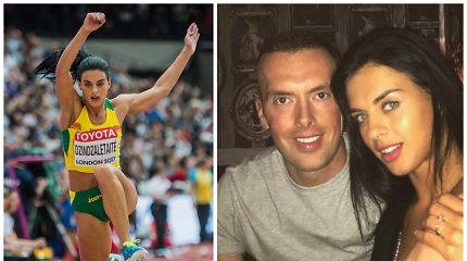 Trišuolininkė Dovilė Dzindzaletaitė ištekėjo už garsaus britų sprinterio Richardo Kilty