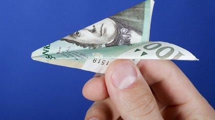 Gruodžio mėnesį einamosios sąskaitos balanso perviršis sudarė 161,4 mln. litų
