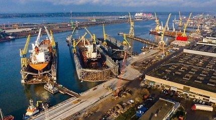 Klaipėdos uoste už 8,7 mln eurų rekonstruojamos krantinės: priims remontui didžiuosius laivus