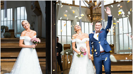 Mis Lietuva R.Mazurevičiūtė ištekėjo už M.Pitkausko: vestuves iškėlė savo rojaus kampelyje – Nidoje