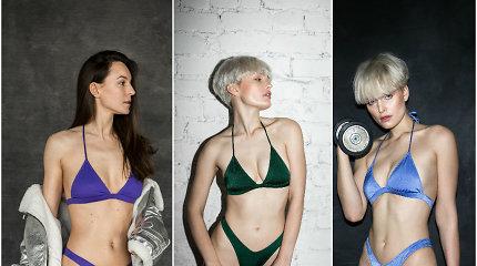 Buvusios dailiojo čiuožimo čempionės kurti bikiniai veda internautus iš proto