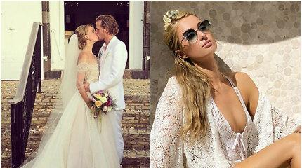 Paris Hilton jaunėlis brolis Barronas Hiltonas egzotiškoje saloje vedė kilmingą grafaitę