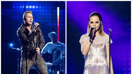 """Antroji """"Eurovizijos"""" atranka: lyderiai – scenos veteranas E.Lubys ir naujokė E.Gogolytė"""