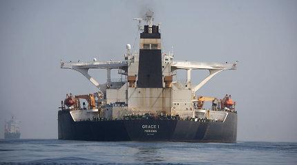 Gibraltaro paleidžiamas Irano tanklaivis ruošiasi išplaukti