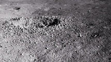 Kinijos aparatas tamsiojoje Mėnulio pusėje rado kažką panašaus į drebučius