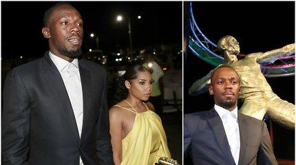 Jamaikoje ypatingai pagerbtas U.Boltas pasirodė su savo mergina
