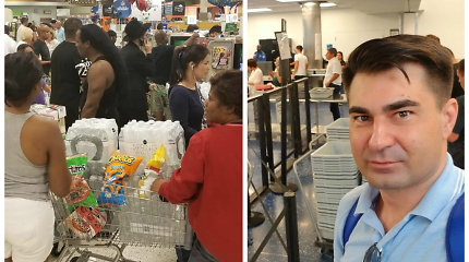 """Dėl uragano Radvilas Bubelis evakavosi iš Floridos: """"Šluojamos parduotuvės, jaučiama panika"""""""