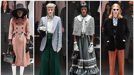 "Milane pristatyta ""Gucci"" kolekcija – vintažo ir gatvės stiliaus mišinys"