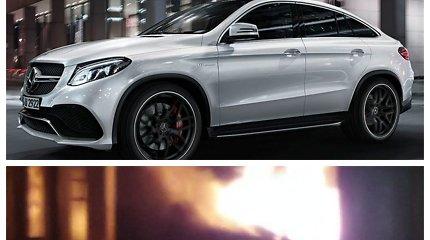 """Kaune sudegintas """"Mercedes"""" kainavo apie 100 tūkst. eurų: tai šįmet pagamintas AMG GLE 63"""