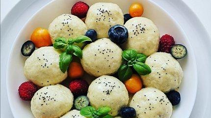 """""""Aurimėlio virtuvės"""" receptas: virti varškėčiai su aguonų įdaru"""
