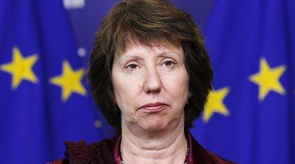 ES diplomatijos vadovė Catherine Ashton: nuverstas Egipto prezidentas Mohamedas Mursi jaučiasi gerai ir turi galimybę sekti naujienas