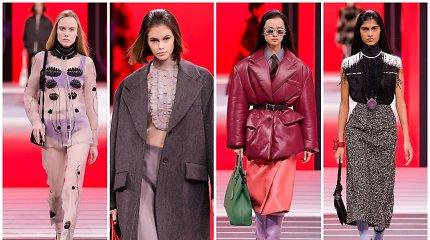 """""""Prada"""" ant Milano podiumo pateikė glamūrines uniformas"""