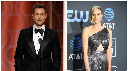 Nauja žvaigždžių pora: Bradas Pittas susitikinėja su aktore Charlize Theron