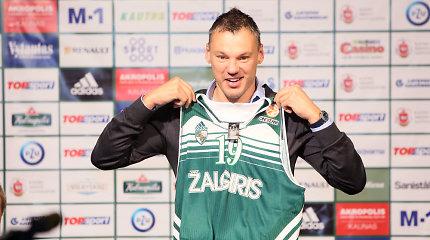 Basketball star Šarūnas Jasikevičius signs contract with Žalgiris Kaunas