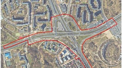 Kaip atrodys atnaujinta sankryža prie Nacionalinio stadiono Vilniuje?