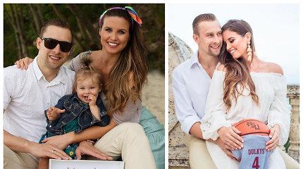 Krepšininkas Deividas Dulkys su žmona McCall Maynor susilaukė dvynukų ir pasidalijo jų nuotrauka