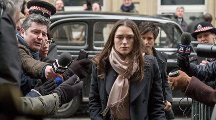 K.Knightley į ekranus grįžta su politiniu trileriu: sukrečianti istorija paremta tikrais įvykiais