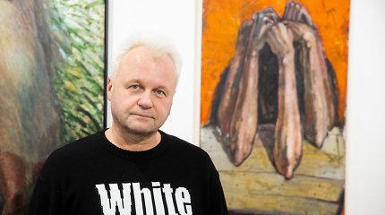 """Samas surengė pirmąją parodą galerijoje – """"Rokas su teptukais"""": """"Anksčiau buvau labai savikritiškas"""""""