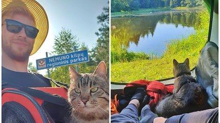"""Ispanijoje augęs Renaldas į 500 km ilgio žygį """"Camino Lituano"""" leidosi su katinu: """"Čia svarbiausia – sutikti žmonės"""""""