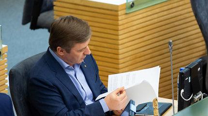 """Tiesa ar melas? R.Karbauskis apie pataisas dėl draudžiamos informacijos: """"Ne Seimo nariai rašė"""""""