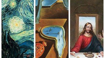 Testas prenumeratoriams: ar žinote, kas nutapė šiuos 12 labai garsių paveikslų?