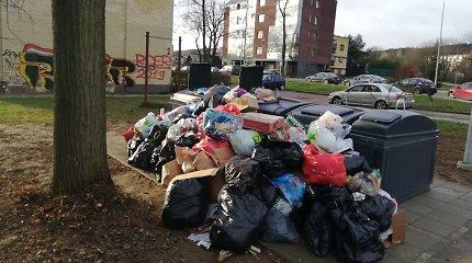 Pasikeitus atliekų vežėjams šiukšlių maišais apkrauti konteineriai – dalies Vilniaus kasdienybė