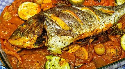 Patarimai, kaip ruošti karšį, ir receptas iš Viduržemio jūros šalių