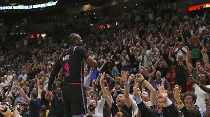 Neįtikėtina: akrobatinis Dwyane'o Wade'o tritaškis pražudė NBA čempionus