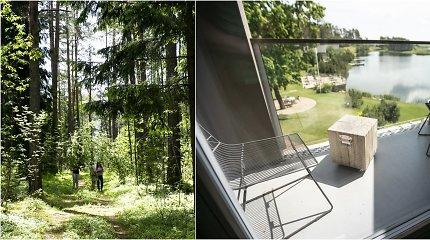 Įdarbino savą mišką: sodyboje įkūrė maudynių trasą ir pirtį su vaizdu į saulėlydį