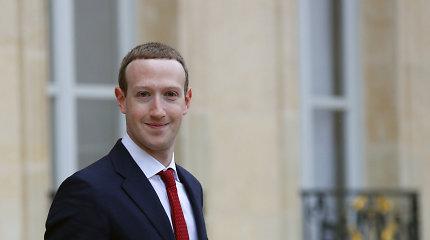 Su E.Macronu susitikęs M.Zuckerbergas sako optimistiškai nusiteikęs dėl prancūzų siūlymų