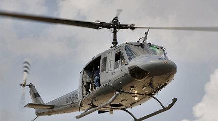 JAV sraigtasparnis avariniu būdu nusileido Japonijos paplūdimyje