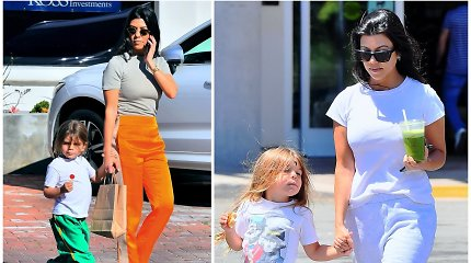 Stulbinantys K.Kardashian sūnaus išvaizdos pokyčiai: ilgus plaukus turėjęs berniukas juos nusiskuto