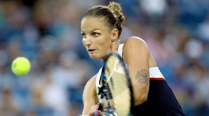Karjerą pakeitusį turnyrą Karolina Pliškova pradėjo solidžia pergale