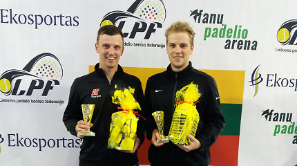 Tarp padelio turnyro nugalėtojų – šalies teniso čempionas