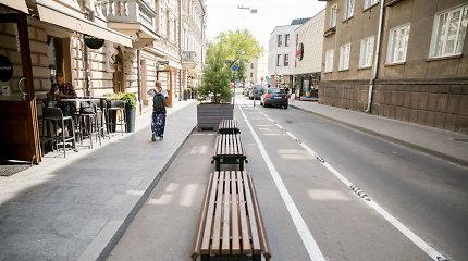 Vilniaus Islandijos gatvėje – pušys, dviračių stovai ir pakoreguota eismo tvarka