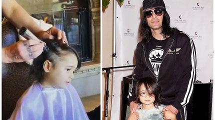 Mago Crisso Angelo sūnui atsinaujino vėžys: prieš kovą su juo penkiamečiui tėvas nuskuto plaukus
