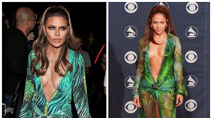56-erių Lisa Rinna atkartojo legendinį Jennifer Lopez įvaizdį: kuri žvaigždė atrodė geriau?