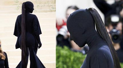 """K.Kardashian kirpėjas atskleidė """"Met Gala"""" įvaizdžio plaukų kainą: ji – įspūdinga"""