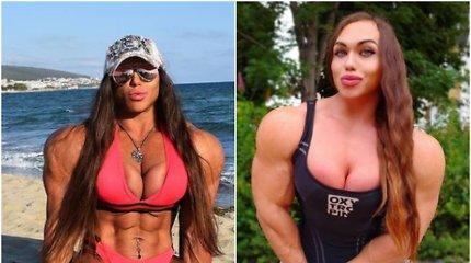 Amazonka iš Sibiro: Instagram populiarumo banga skrieja moteris vyro raumenimis